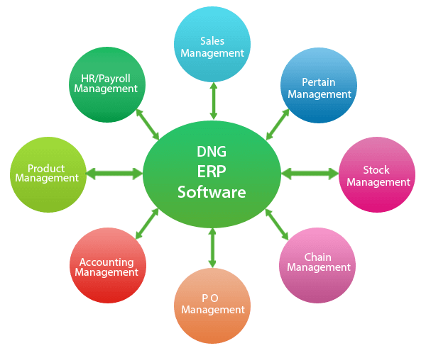 ERP software diagram